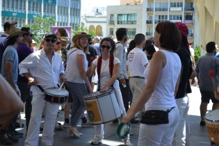 Drummers livening up the atmosphere