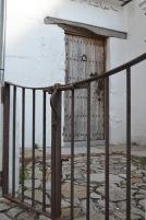 Wooden door with gate