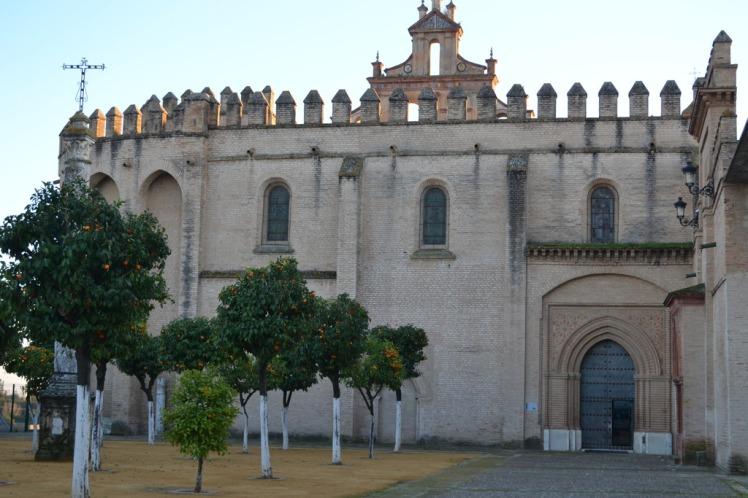San Isidoro del Campo Monastery in Santiponce. Exterior.