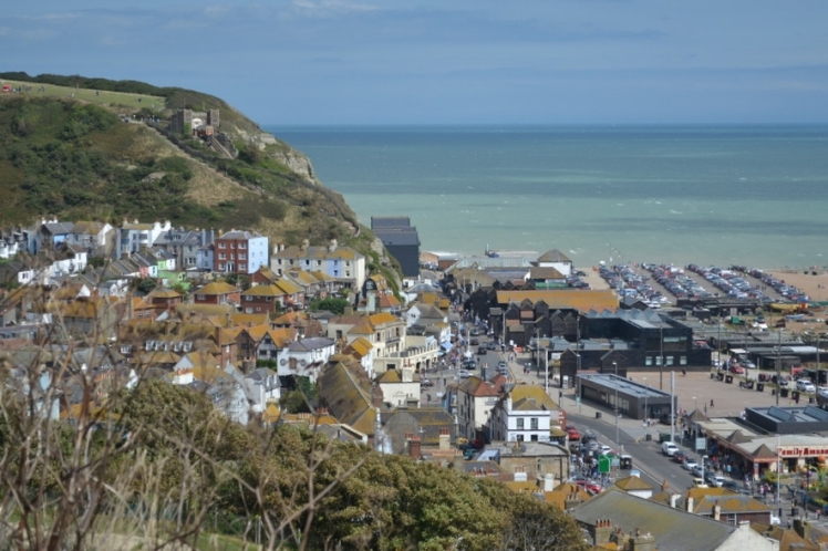view of hastings from castle