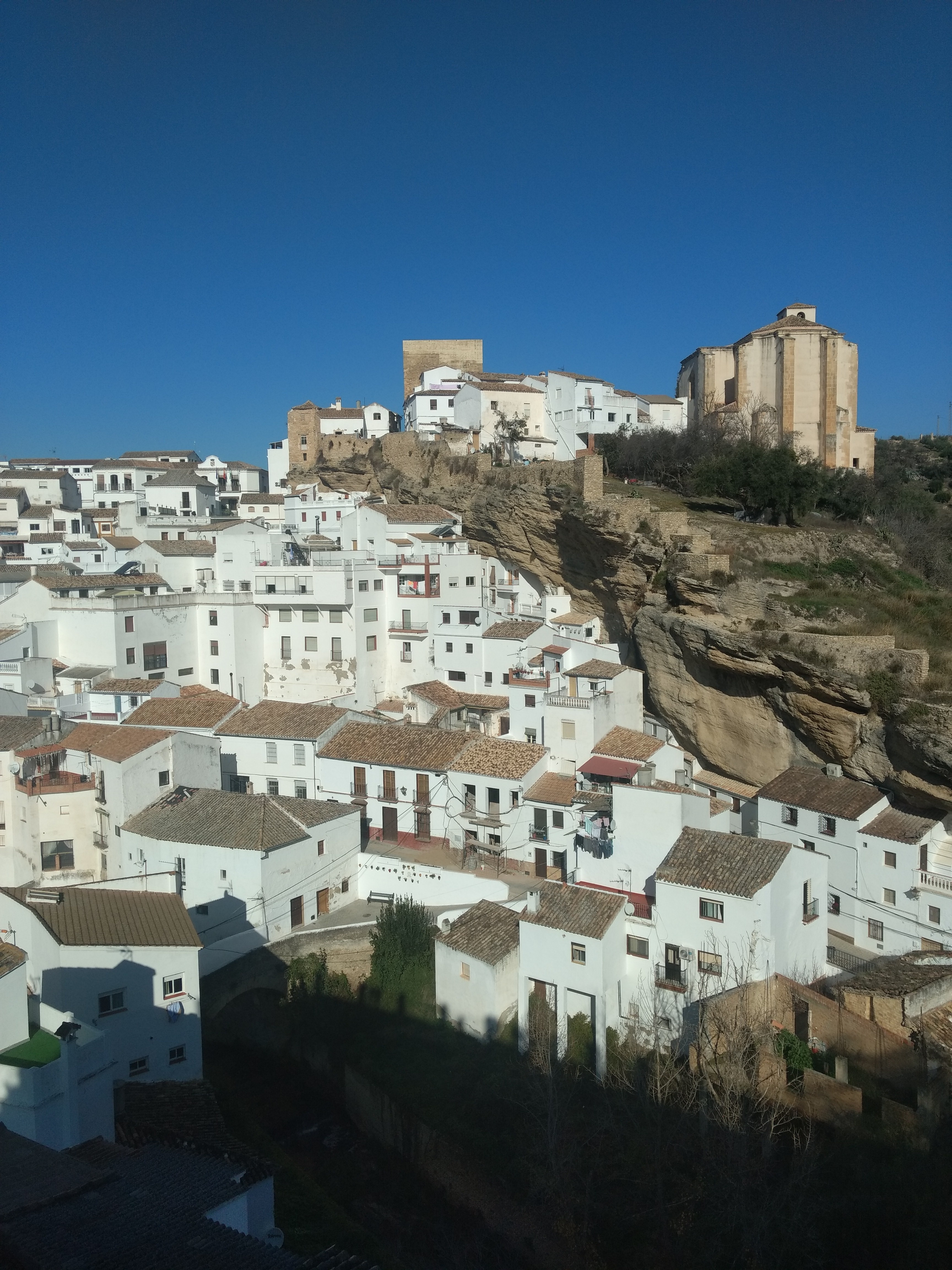 view of Setenil from the mirador