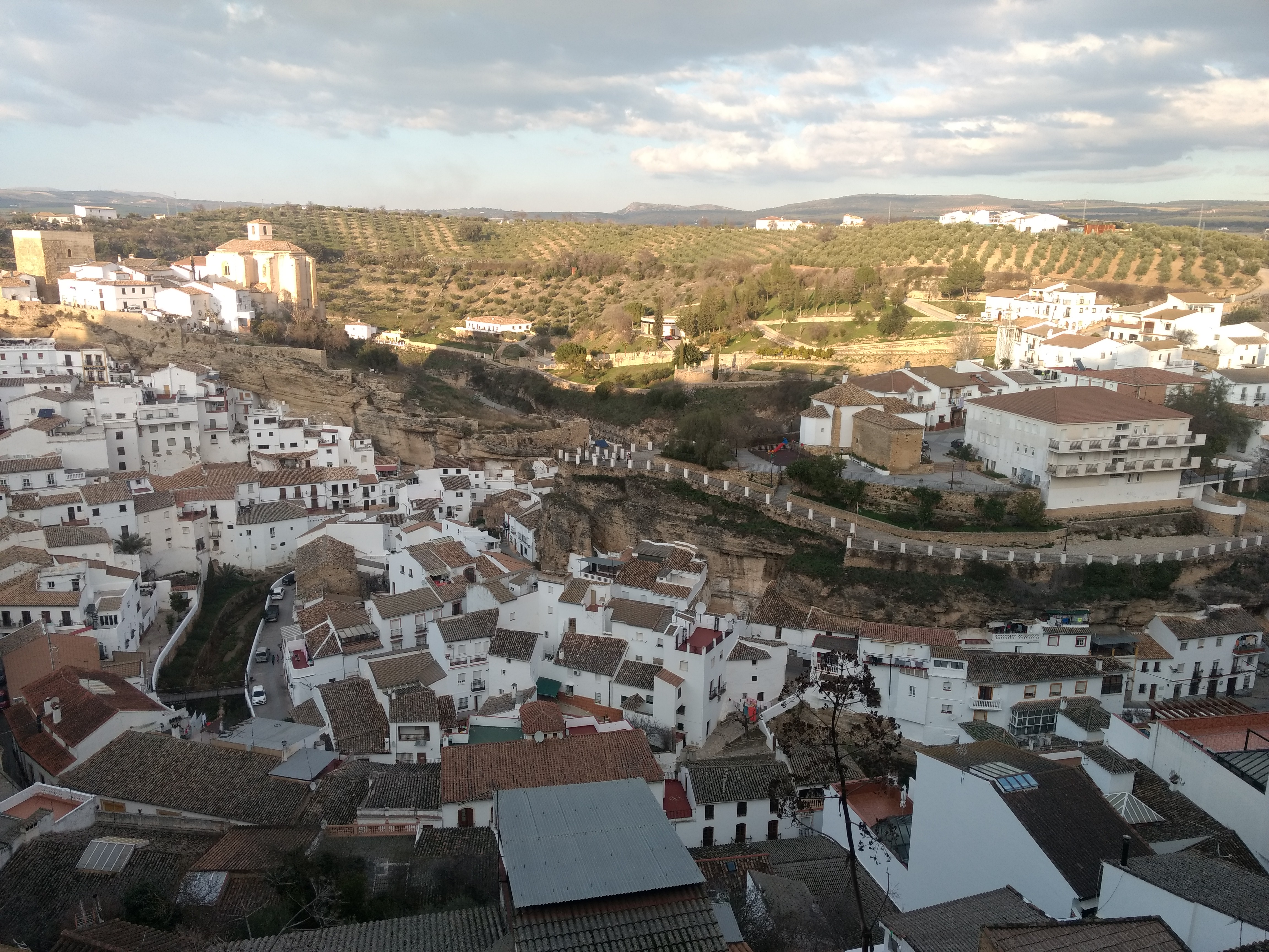 View of Setenil and castle